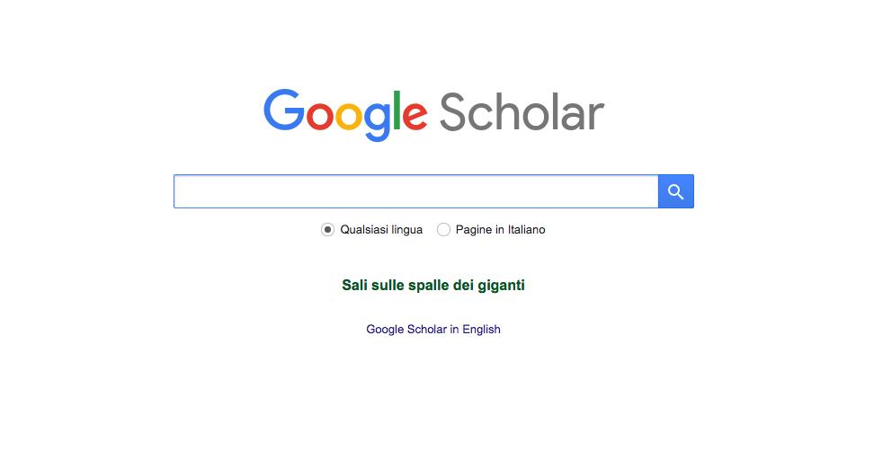 Google Scholar – Un grande aiuto per studenti e ricercatori